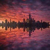 Lower Manhattan Sunrise from Lefrak Point Lighthouse