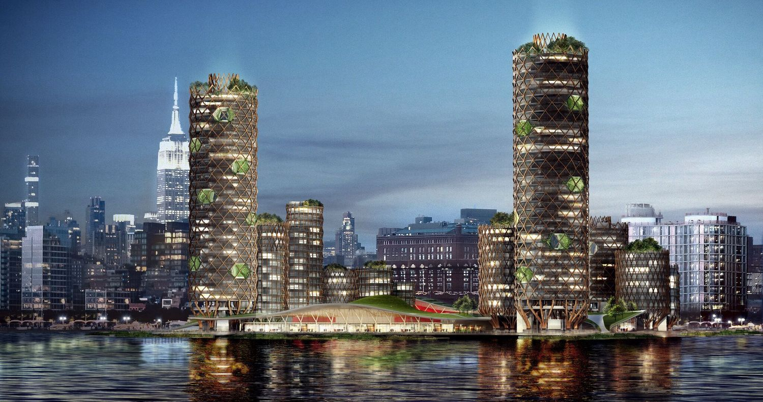 Proposal for future-proof condominiums on Pier 40 in Chelsea