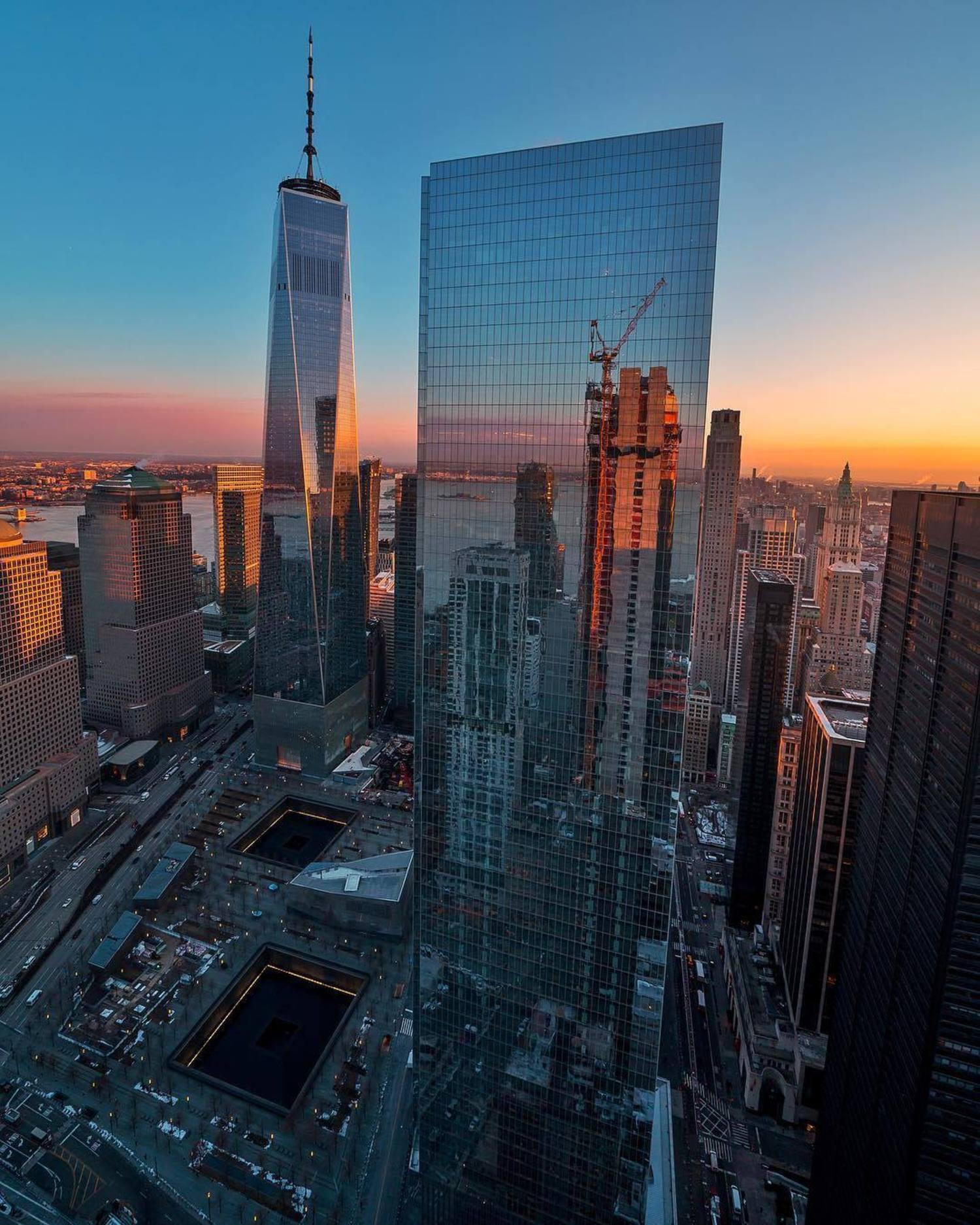 Sunrise over Lower Manhattan