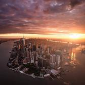Sunrise over New York City. 📸 via @beholdingeye #viewingnyc #nyc #newyork #newyorkcity #sunrise