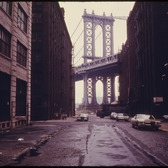 DUMBO, a name invented in the late 1970s, Down Under the Manhattan Bridge Overpass.
