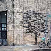 I am very happy to finally share pictures of my first work made in New York. 'Fossil' works as a harbinger of a hypothetical fatal future where the only memory we have of nature is the fossilized form of a tree in a brick wall. This work can be found at 27 Scott Ave. Brooklyn.  I want to thank all the amazing local people who helped me making this happen @thebushwickcollective Sean and Justin and also the photographers @zurbaran1  @just_a_spectator  #pejac #pejacnyc