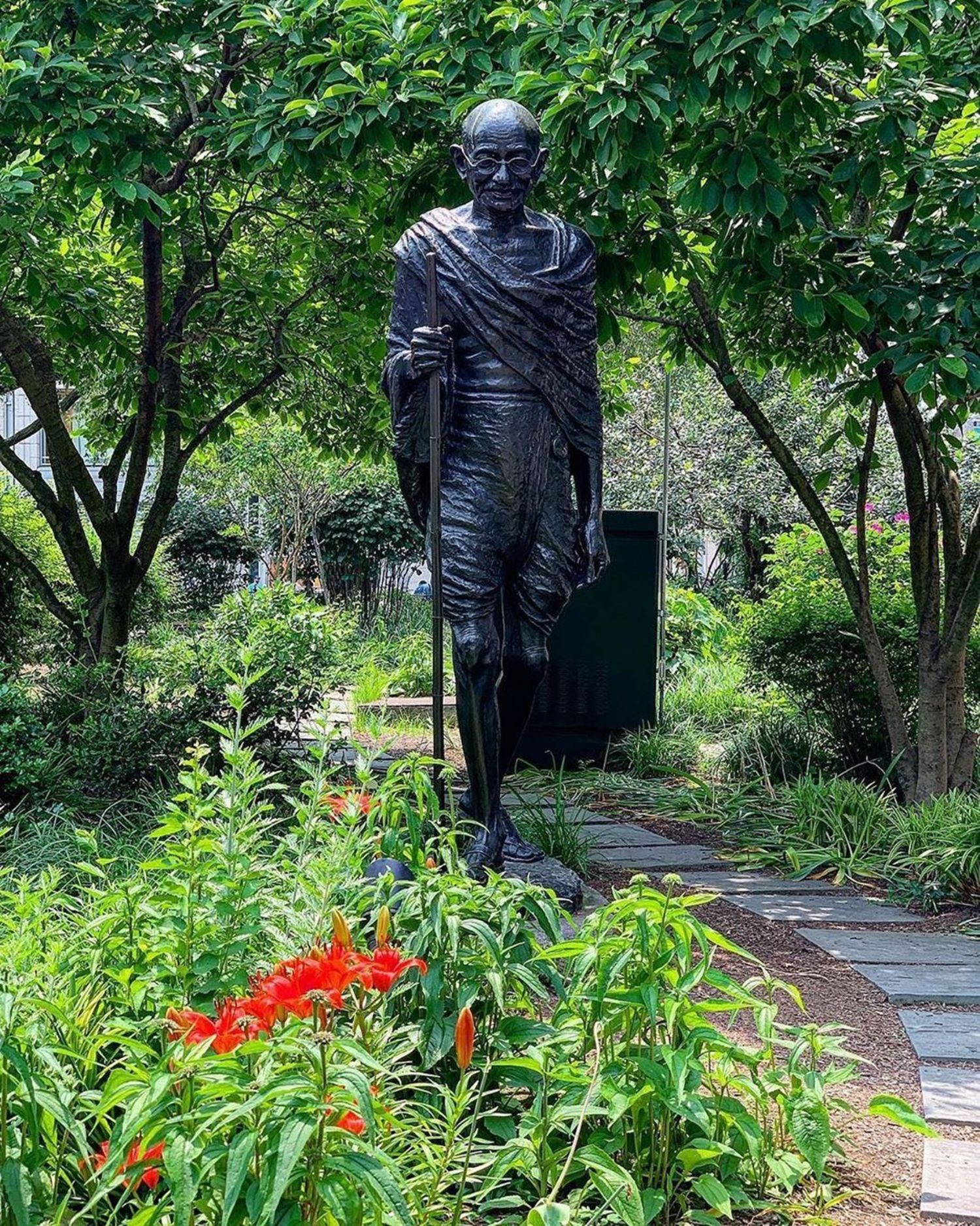 Gandhi Statue, Union Square, Manhattan.