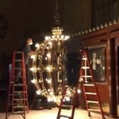 Cleaning and maintaining the chandeliers at Grand Central Terminal, NYC