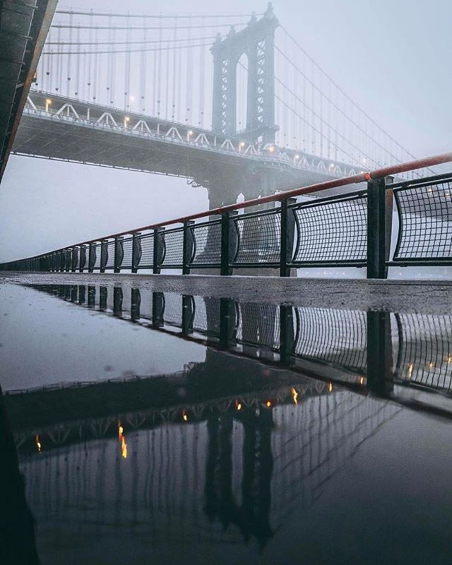 Manhattan Bridge. Photo via @henrykornaros #viewingnyc
