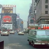 New York 1960s (60fps, added sound w/ color remaster)