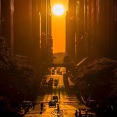 Manhattanhenge over 42nd Street, Midtown