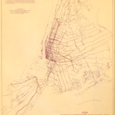 "Early days: Map of ""Proposed Comprehensive Rapid Transit Plan,"" June 1920. (Courtesy of New York Transit Museum)"