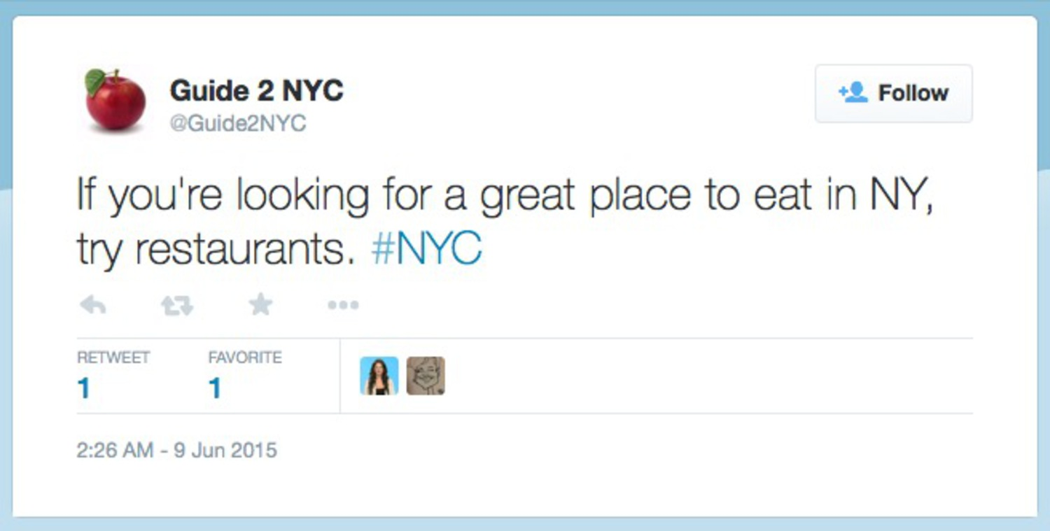 If you're looking for a great place to eat in NY, try restaurants. #NYC