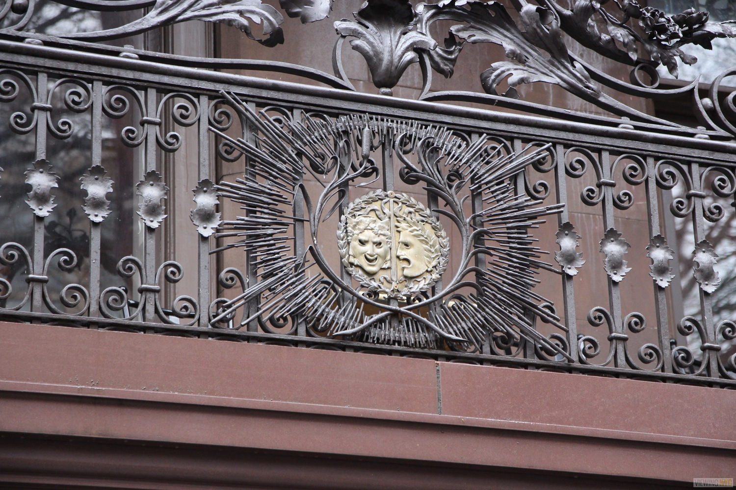 The Players Crest on Exterior Railing