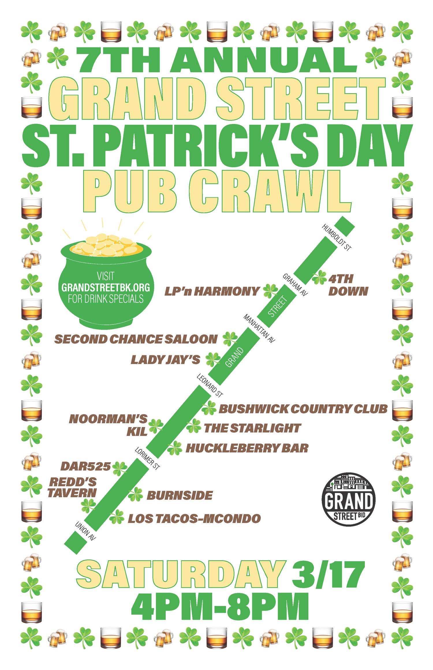 7th Annual Grand Street St. Patrick's Day Pub Crawl