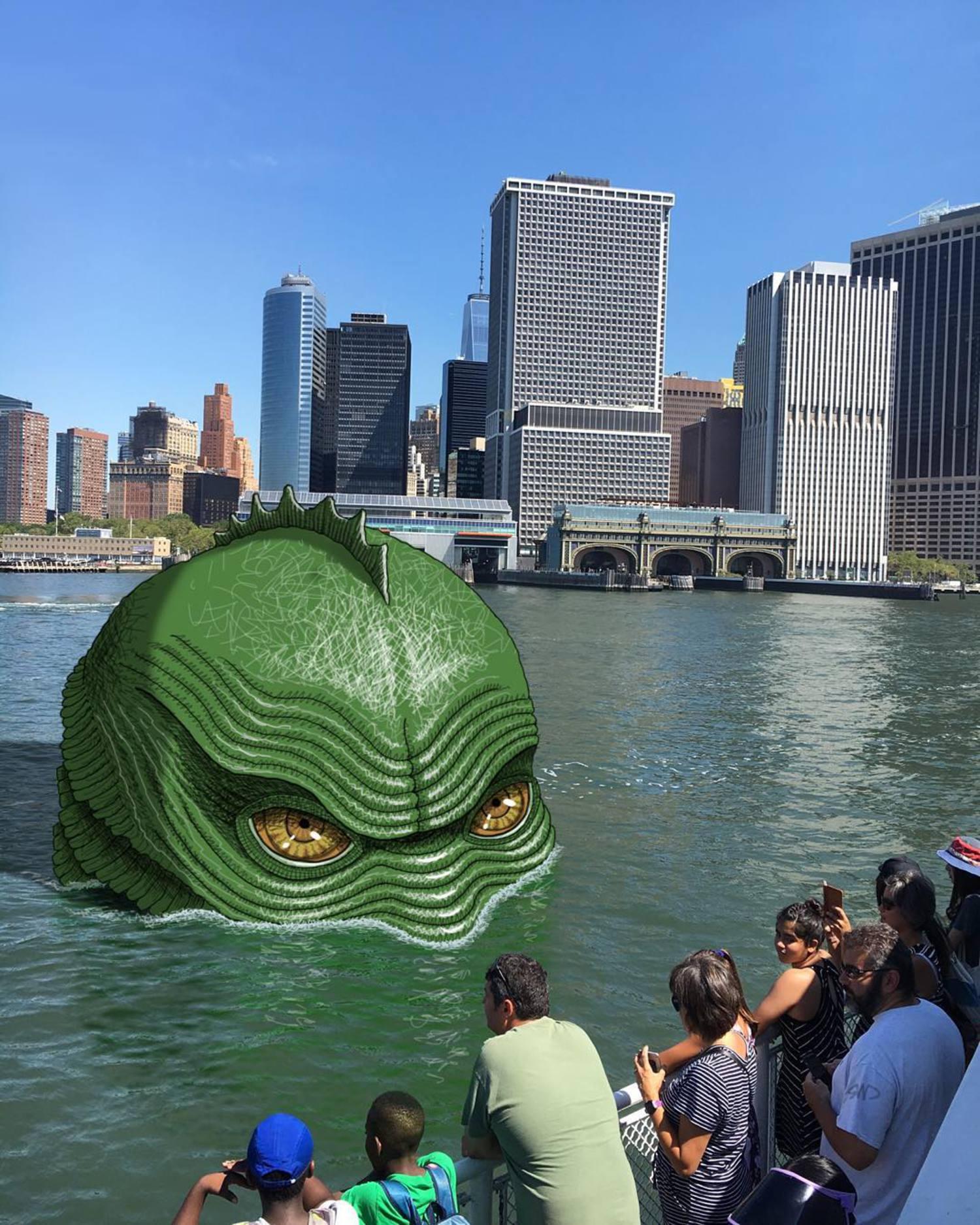 #subwaydoodle #subway #doodle #swd #nyc #governorsislandferry #creaturefromtheblacklagoon