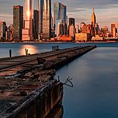 Sunset Against the Midtown Manhattan Skyline