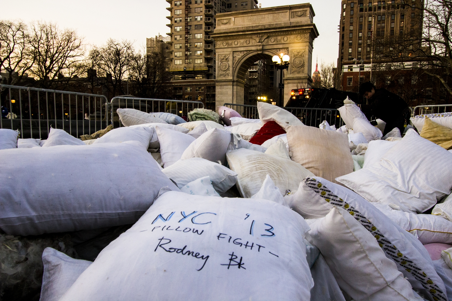 The Aftermath   National Pillow Fight Day NYC