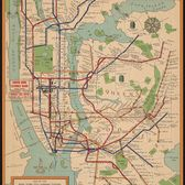 Map of the New York City subway system, 1954