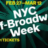 Winter 2017 NYC Off-Broadway Week