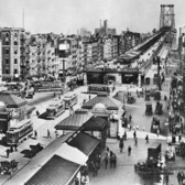 Manhattan Entrance to Williamsburg Bridge, 1919