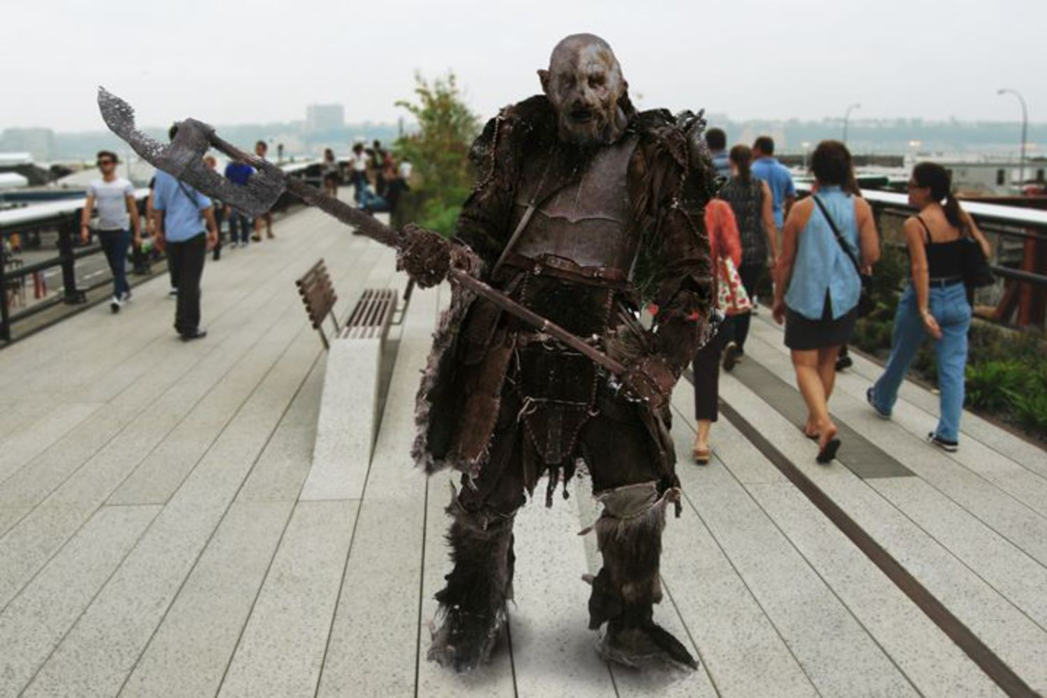 """I was born and raised in the Bronx. I don't really feel much connection with Mordor. It's hard, my parents don't talk about it much. You hear a lot about orcish refugees coming here after the War of the Ring - some humans, too, actually, who fought with the Dark Lord - but orcs have been coming here a long time to get out of the rigid caste structure. My parents were snaga, a low caste. So they don't really talk about it."""