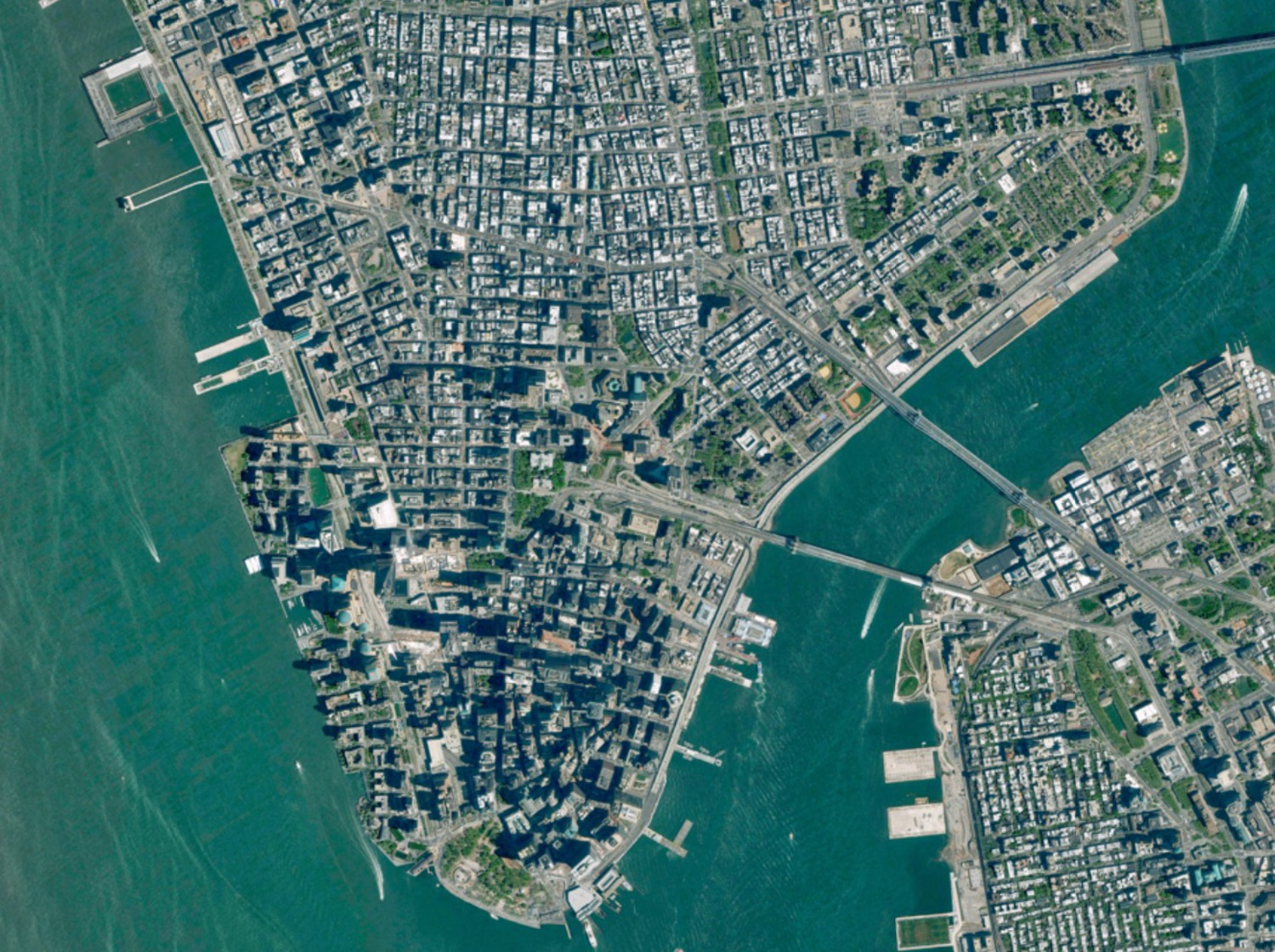 Even from Space, Lower Manhattan Throws Some Major Shade