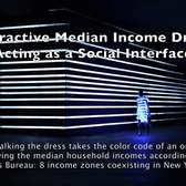 Interactive Median Revenue Dress: Acting as a Social Interface
