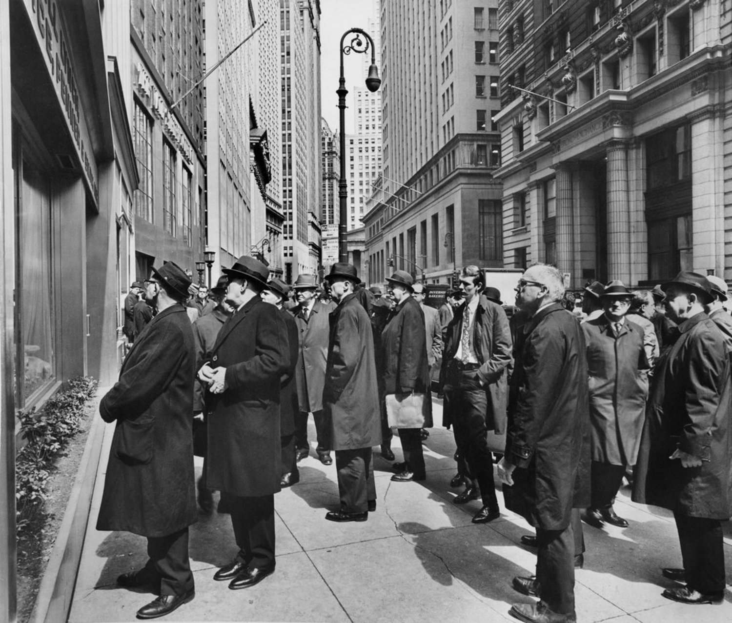 """April 1, 1968: Stock-watchers observed the numbers on Broad Street, which showed signs of good news """"as securities markets around the world generally placed a bullish tag on President Johnson's bid for peace in Vietnam,"""" reported The Times. """"Brokers said that markets hungering for good news in recent months seized upon the speech Sunday night by President Johnson,"""" which called for a halt to bombing in Vietnam and invited its government to """"join him in a 'series of mutual moves toward peace.' """" The war lasted until 1975."""