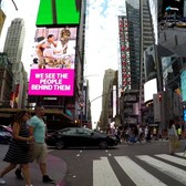 What it's like riding a bicycle through Times Square (POV)