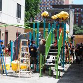 Delta Air Lines volunteers helped build a playground for Bronx kids in Morrisania