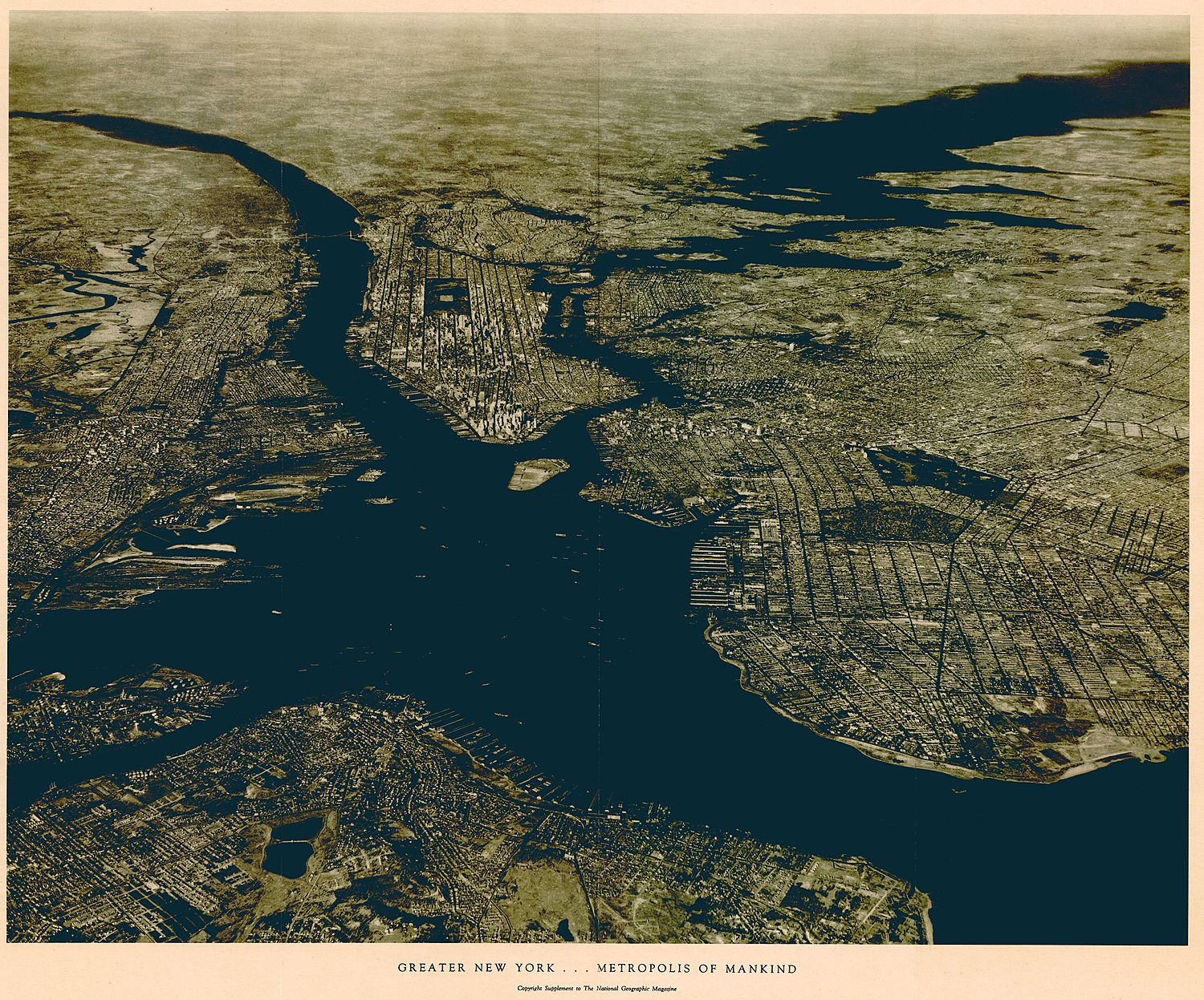 Greater New York ... Metropolis of Mankind, National Geographic, 1933