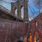 Brooklyn Bridge from St. Ann's Warehouse, DUMBO, Brooklyn