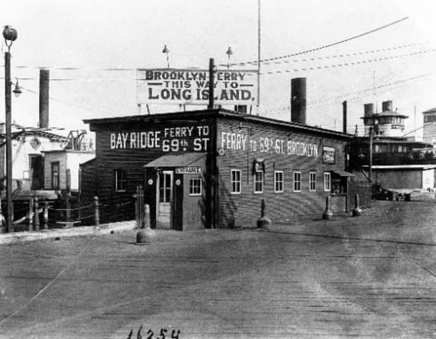 69th St. Ferry House, St. George, 1934. The ferry to Brooklyn went out of business when the Verrazano-Narrows Bridge opened in November 1964.