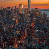 Sunset over Lower Manhattan from Hudson Yards