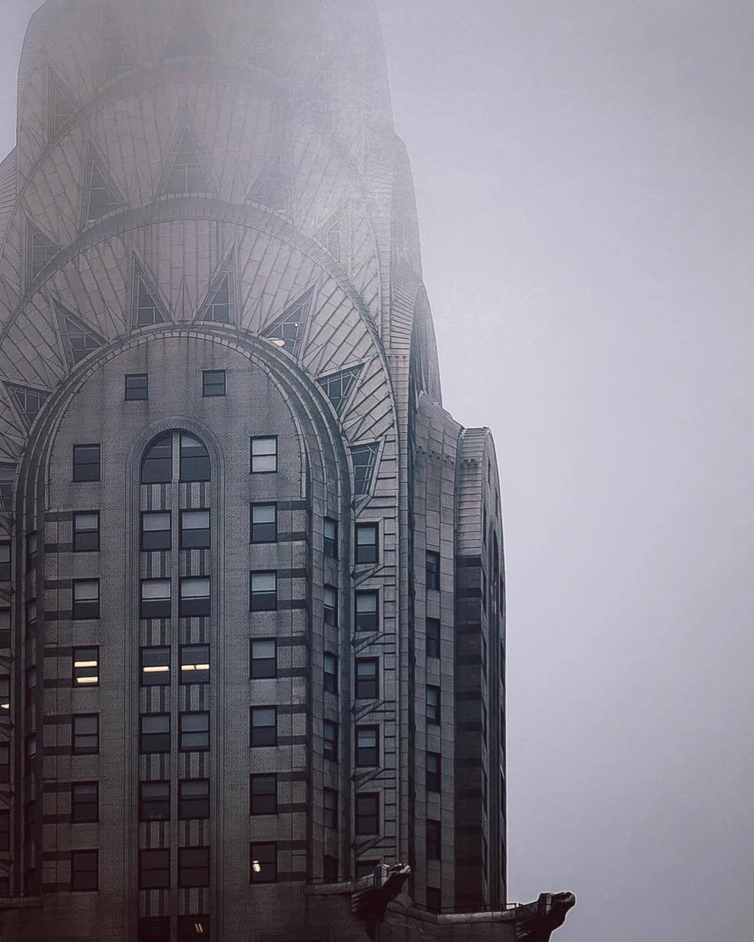 Chrysler Building, New York. Photo via @danwag #viewingnyc #newyork #newyorkcity #nyc #chryslerbuilding