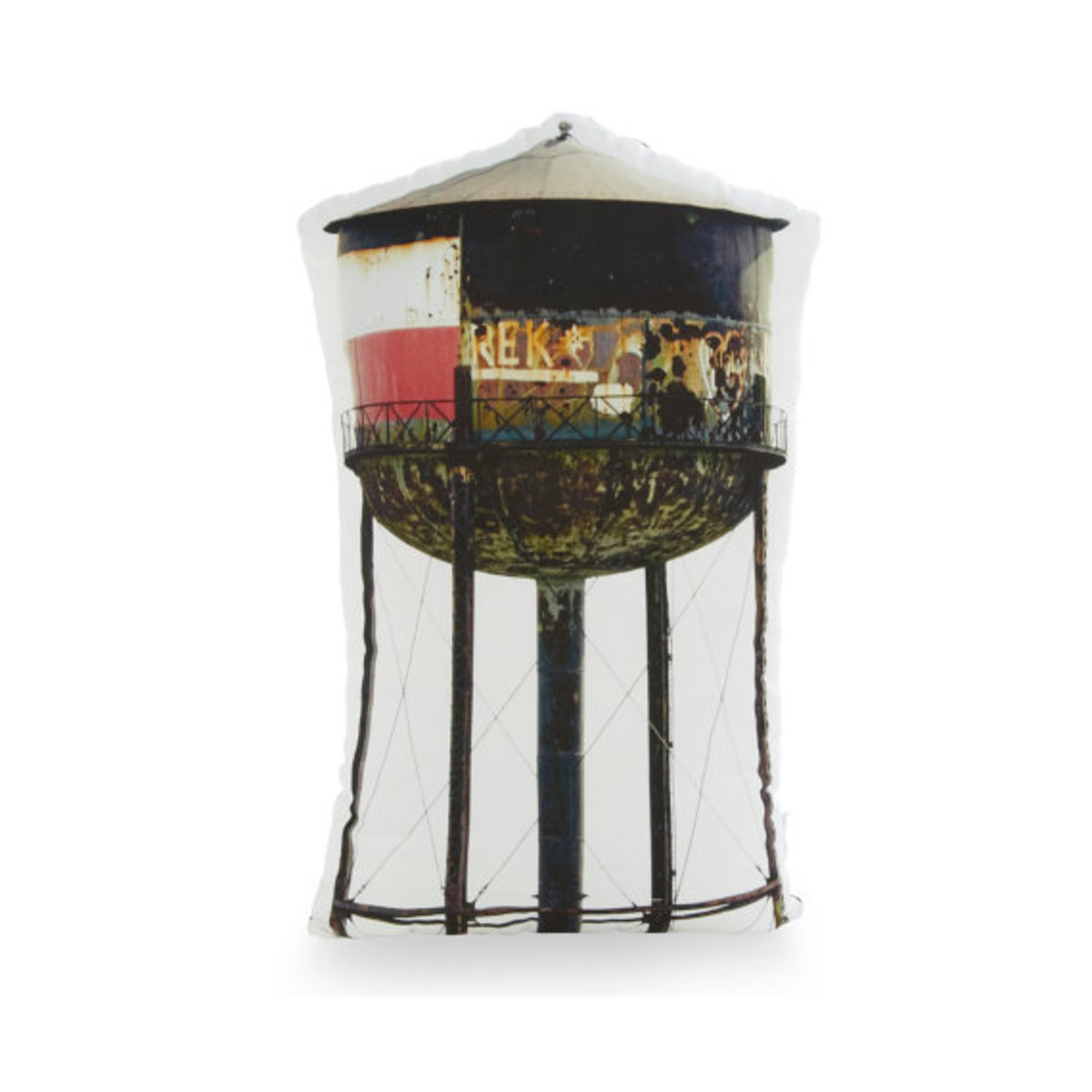 Greenpoint Brooklyn Water Tower Printed Pillow