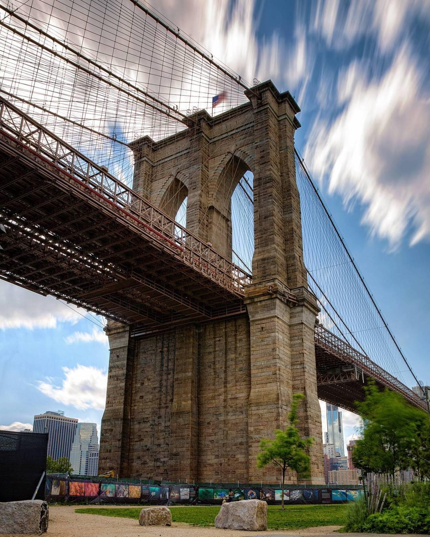 """Brooklyn Views! The Brooklyn Bridge as seen on a beautiful spring day!"""