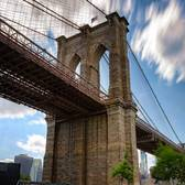 """Brooklyn Views! The Brooklyn Bridge as seen on a beautiful spring day!"""