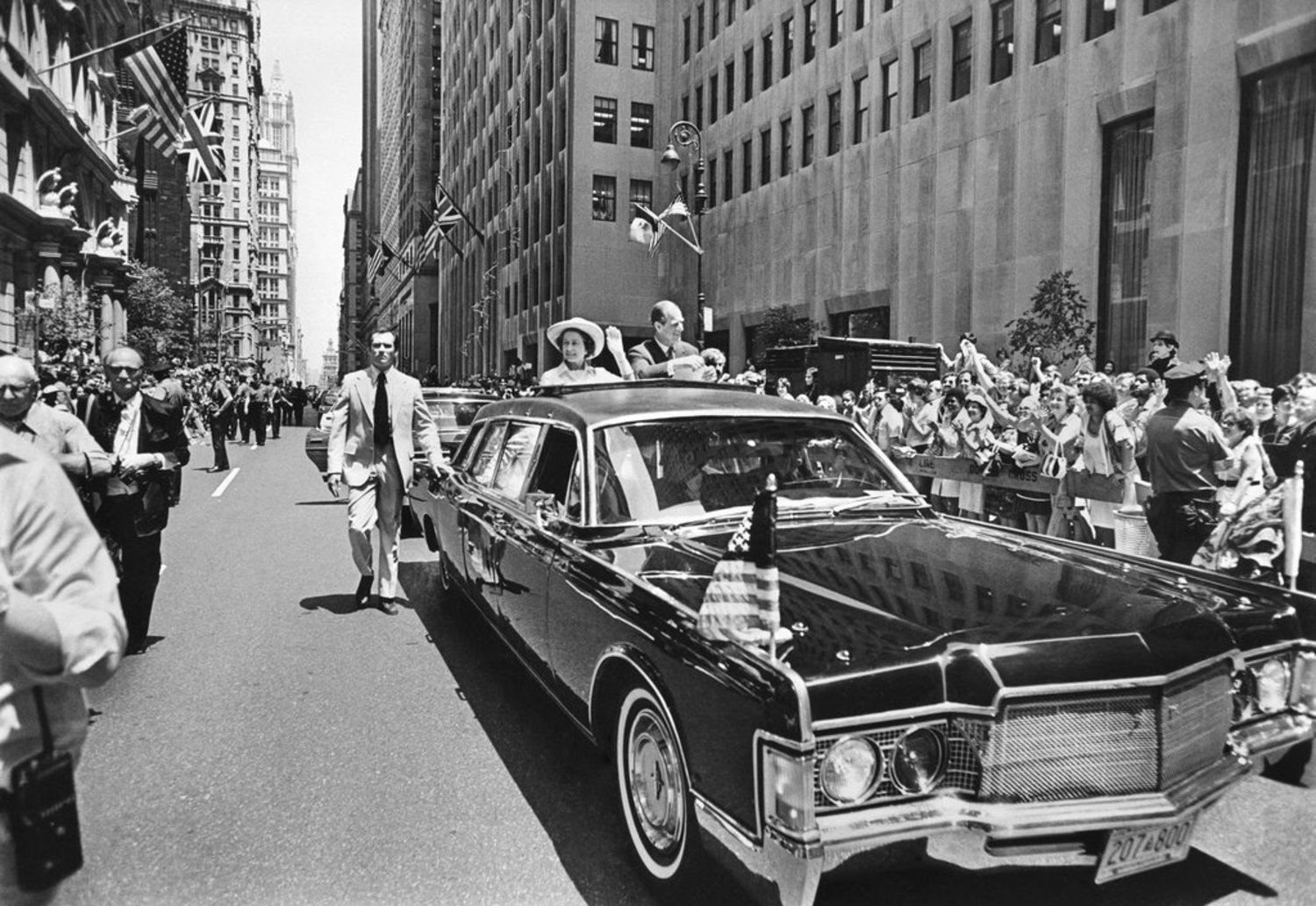 "July 9, 1976: ""Queen Elizabeth II came to New York yesterday to make speeches, shake hands, become an honorary citizen, wave to thousands of New Yorkers — and collect 279 years' worth of back rent,"" The Times reported. ""The rent, 279 peppercorns in a Steuben glass container, was paid to Her Majesty on the steps of Trinity Church, at Broadway and Wall Street. The church received its charter from William III, an ancestor of the Queen, in 1697, for a nominal yearly rent of one peppercorn. Until today, the rent had never been paid."""