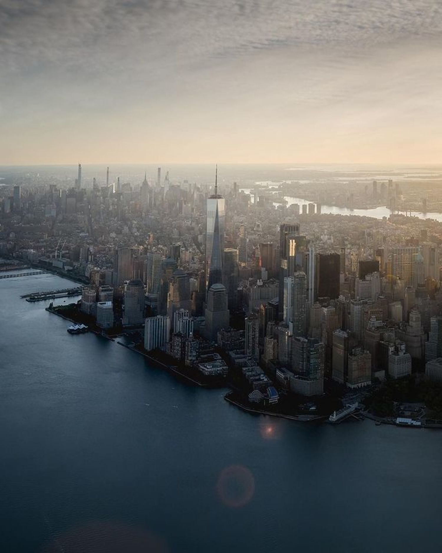 Sunrise over Lower Manhattan, New York