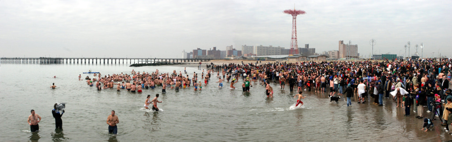 The Coney Island Polar Bear Club taking the plunge on New Year's day, 2006.