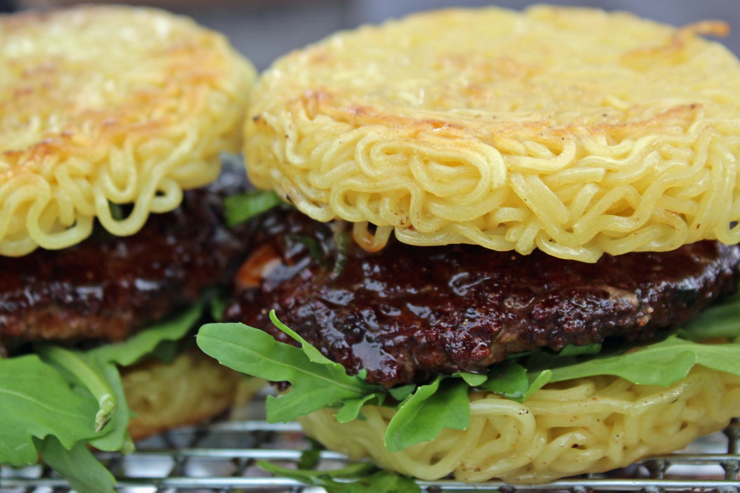 Ramen Burger | From the ramen burger stand at Smorgasburg in Williamsburg, Brooklyn