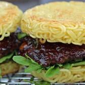 Ramen Burger | From the ramen burger stand at Smorgasburg in Williamsburg, Brooklyn