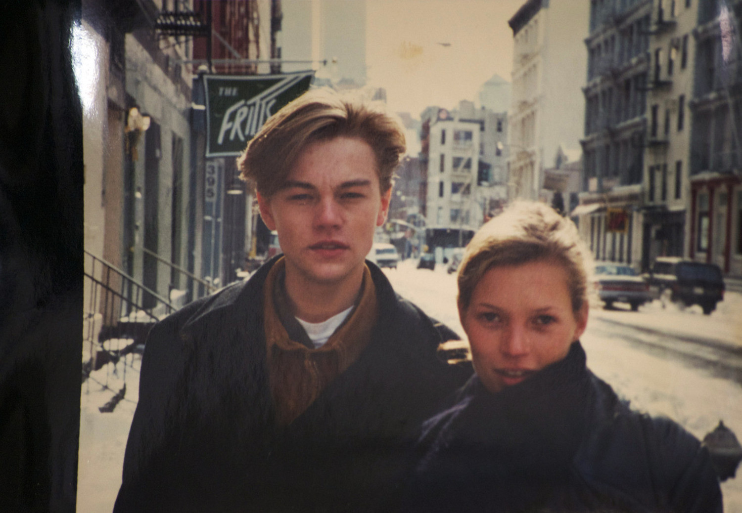 EKate Moss and Leonard Di Caprio in SoHo,1993