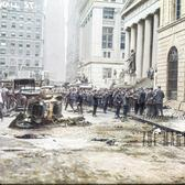 Bombing on Wall Street, 1920 (Colorized)