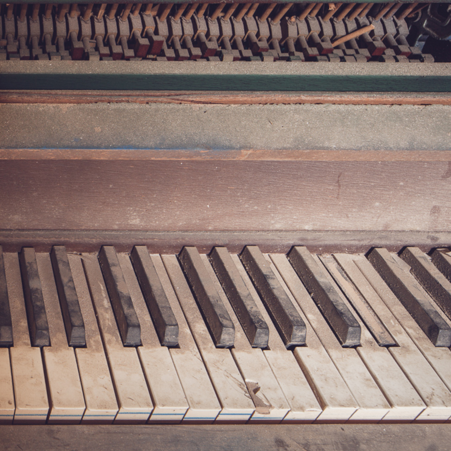 The upright piano, an abandoned hospital staple.