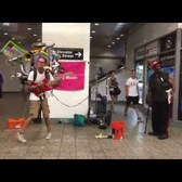One Man Band Jeffrey Masin Performing in Times Square Subway Station