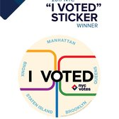 "We have a winner! Congrats to Marie and Scott for winning the ""I Voted"" Sticker Contest! The new sticker will debut on September 12, 2017!"