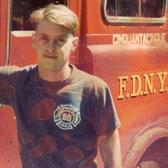 Steve Buscemi when he worked as a firefighter at the NYC Fire Department, 1981