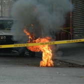 | Before the fire shot up it sounded like a motorcycle running its engine at high speed