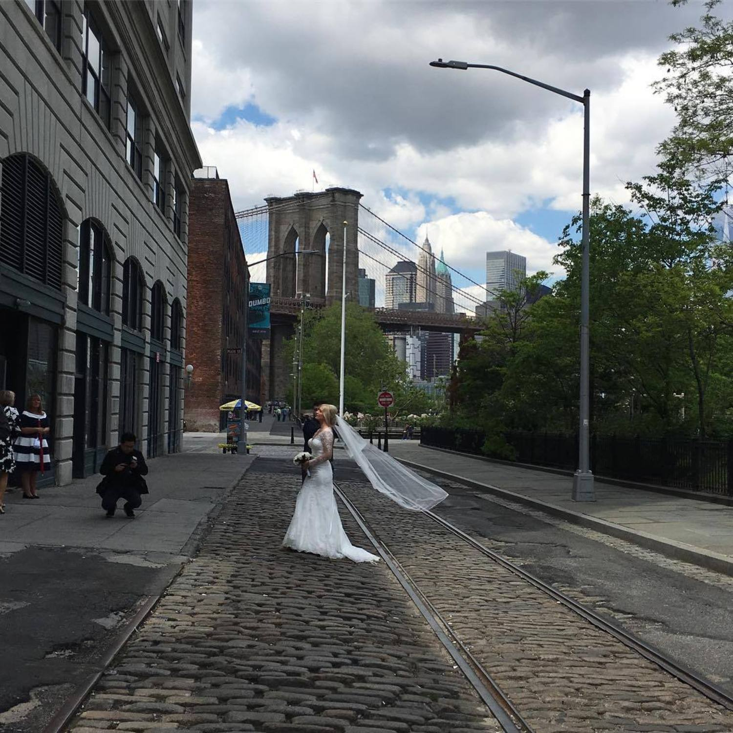 "Beg to differ with NY Times ""New York Today"" piece 7/26/17 on where to shoot wedding photos. Ryan Browne: Love Vinegar Hill but you can't argue that ""popular Dumbo"" is the way to go #newyorktimes #newyorktimestoday #dumbobrides"