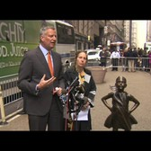 Mayor de Blasio Announces Fearless Girl Statue to Stay in NYC